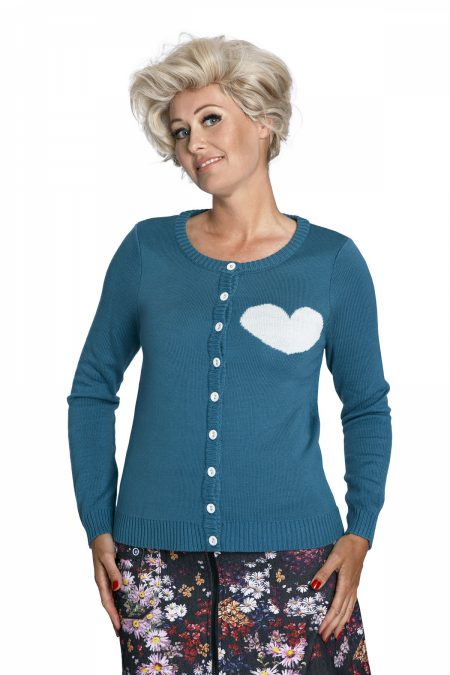 Midnite Petrolove Cardigan, Margot