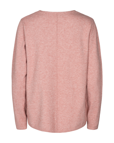 Claura Bluse V-hals Pink, Freequent