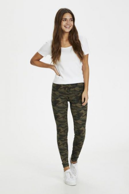 Pappi Army Leggings, Kaffe