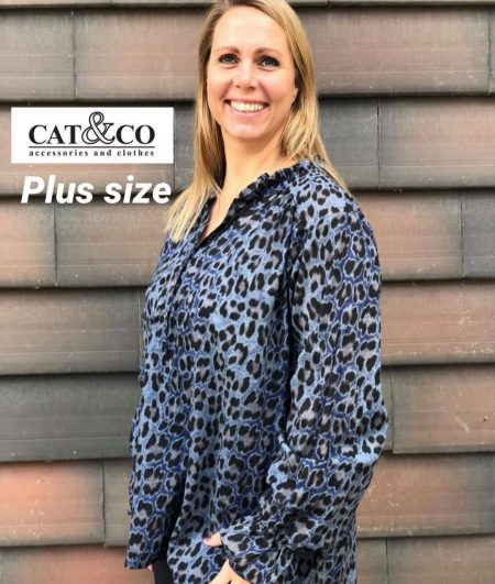 Plus Skjorte Bluse, Cat & Co